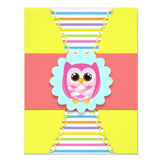 Owl Birthday Invitation for Kids