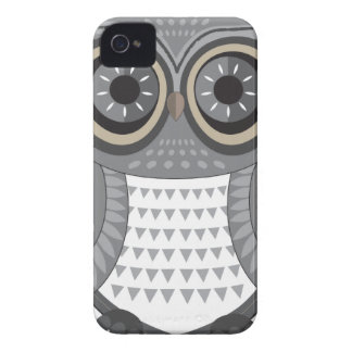 Owl Blackberry Grey Large Case-Mate iPhone 4 Case