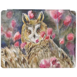 Owl blossom Long-eared owl iPad Cover