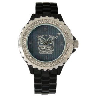 Owl Blue Grunge Fancy Watch