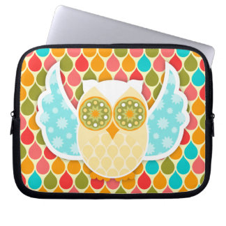 Owl Boheme White Laptop Sleeve