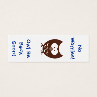 Owl Bookmark! Mini Business Card