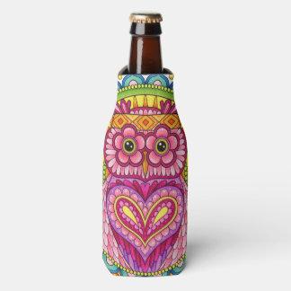 Owl Bottle Cooler - Colorful Owl Bottle Cooler