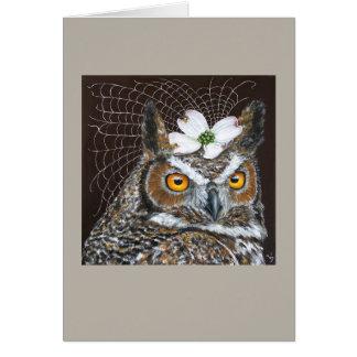 Owl Bride greeting card
