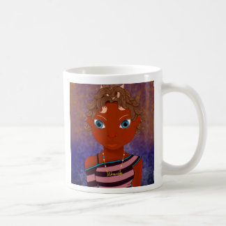 """owl butterfly girl"" coffee mug"