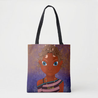 owl butterfly girl tote bag