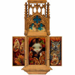 Owl Butterfly Triptych gothic  Photo Sculpture