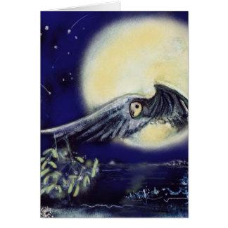 Owl by Moonlight with Mistletoe Card