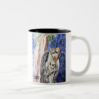 Owl by night one Two-Tone coffee mug