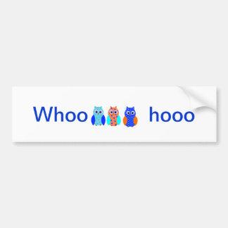 Owl Cards cute and customizable Bumper Sticker