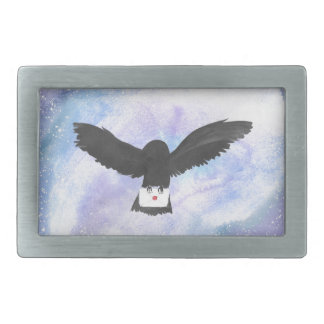 Owl Carrying Mail Belt Buckle