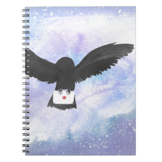 Owl Carrying Mail Spiral Notebook