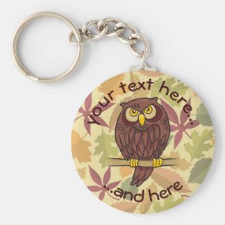 Owl Cartoon Key Ring