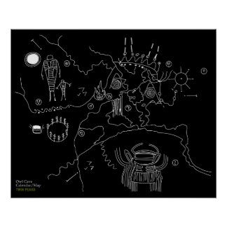 Owl Cave Map - Twin Peaks Poster