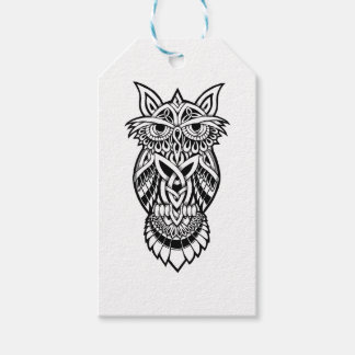 Owl Celtic Knot Gift Tags