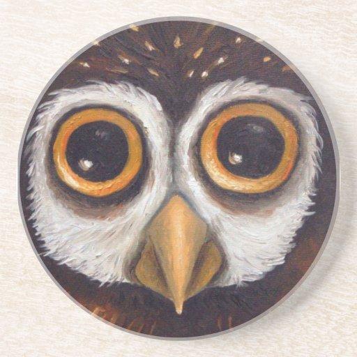 owl beverage coasters