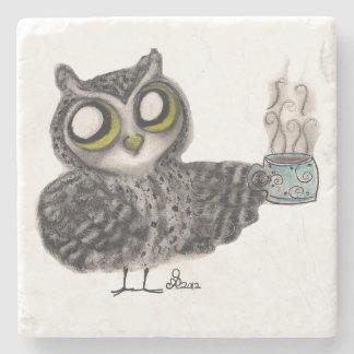 owl coffee stone beverage coaster