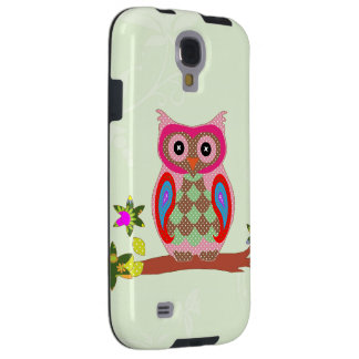 Owl colorful patchwork decorative samsung s4 case