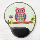 Owl colourful patchwork art decorative gel gel mouse pad