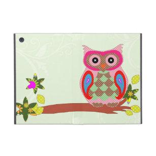 Owl colourful patchwork art decorative ipad case