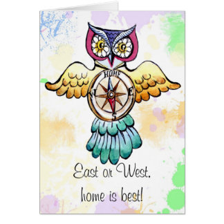 Owl compass east or west home is best card