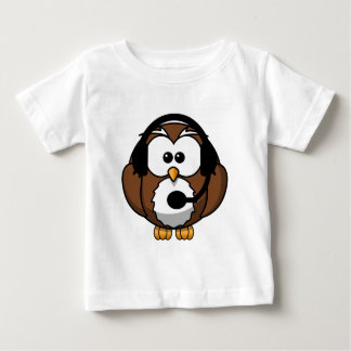 Owl Contact with Headset Baby T-Shirt