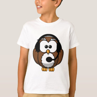 Owl Contact with Headset T-Shirt