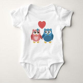 Owl Couple love, Baby bodysuit