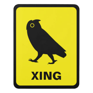 Owl Crossing Sign