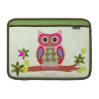 Owl custom name colourful decorative macbook MacBook sleeve