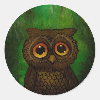Owl cutie classic round sticker
