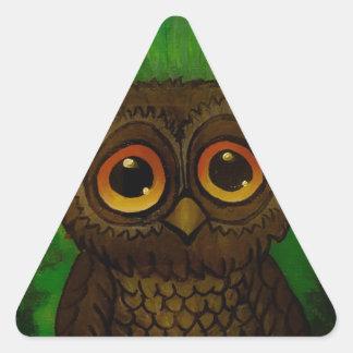Owl cutie triangle sticker