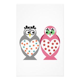 Owl Design Custom Stationery