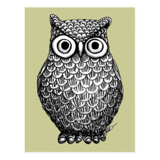 Owl Design Post Card
