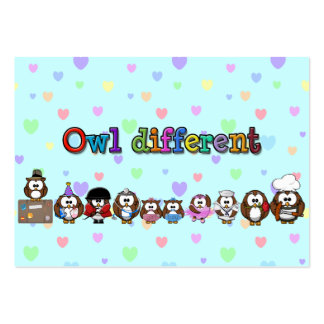owl different pack of chubby business cards