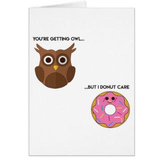 Owl Donut Pun Card