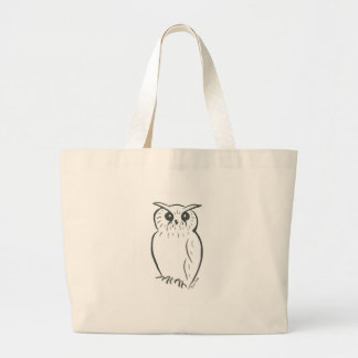 Owl doodle large tote bag