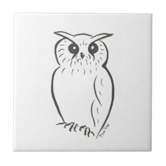 Owl doodle tile