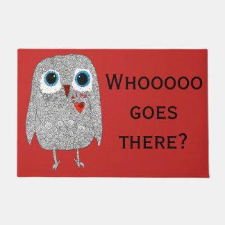 """Owl Door Mat 24"""" x 36"""" (You can Customize)"""