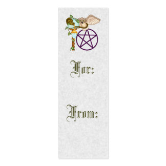 Owl, Dragon & Pentacle Pixel Art Pack Of Skinny Business Cards