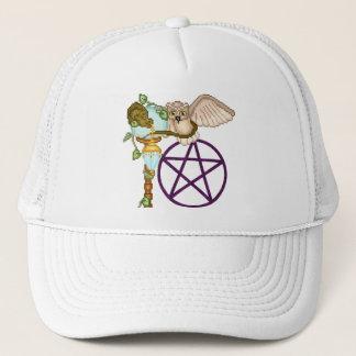 Owl, Dragon & Pentacle Pixel Art Trucker Hat