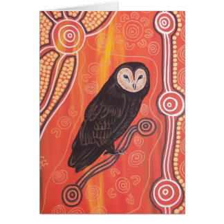 Owl Dreaming Greeting Card