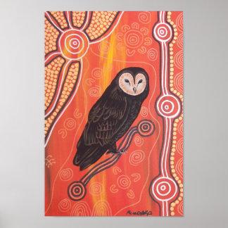 Owl Dreaming Poster by Mundara