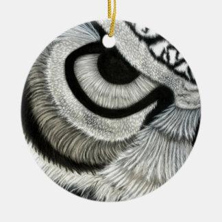 owl eye left side round ceramic decoration