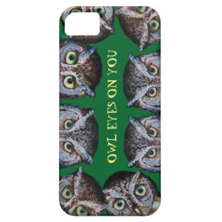 Owl Eyes cell phone green Barely There iPhone 5 Case