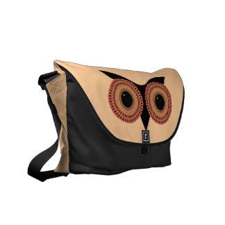 Owl Eyes custom messenger bag