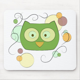 Owl Face for Spring Mouse Pad