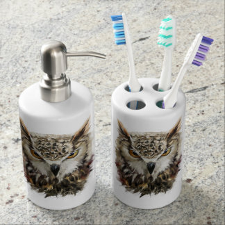 Owl Face Grunge Bath Set