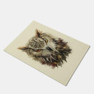 Owl Face Grunge Doormat
