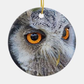 OWLface Round Ceramic Decoration